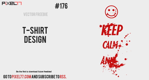 free vector T-shirt Design Vector - Free Vector of the Day #176
