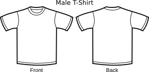 free vector T Shirt Template clip art