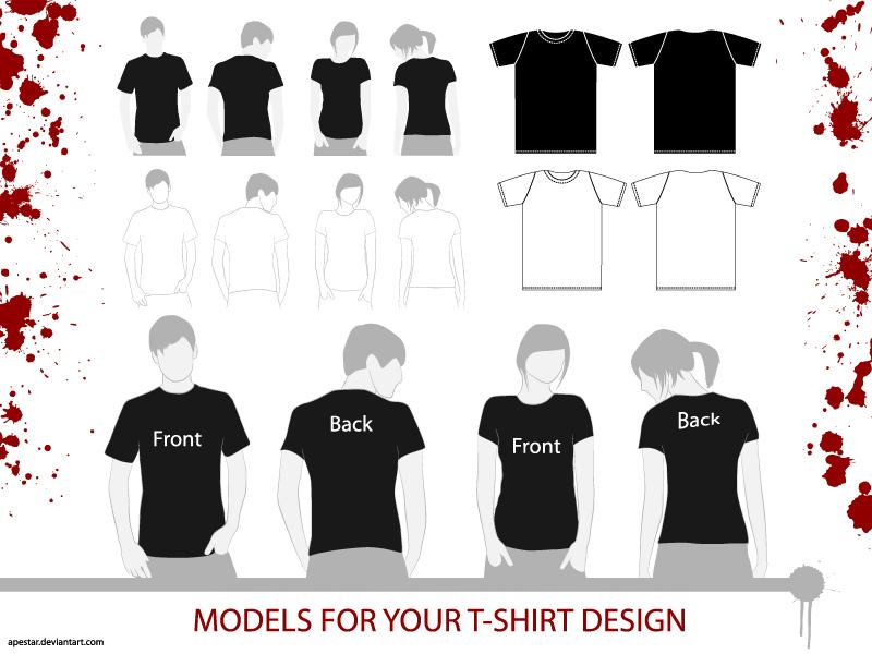 free vector T-Shirt Vector Models
