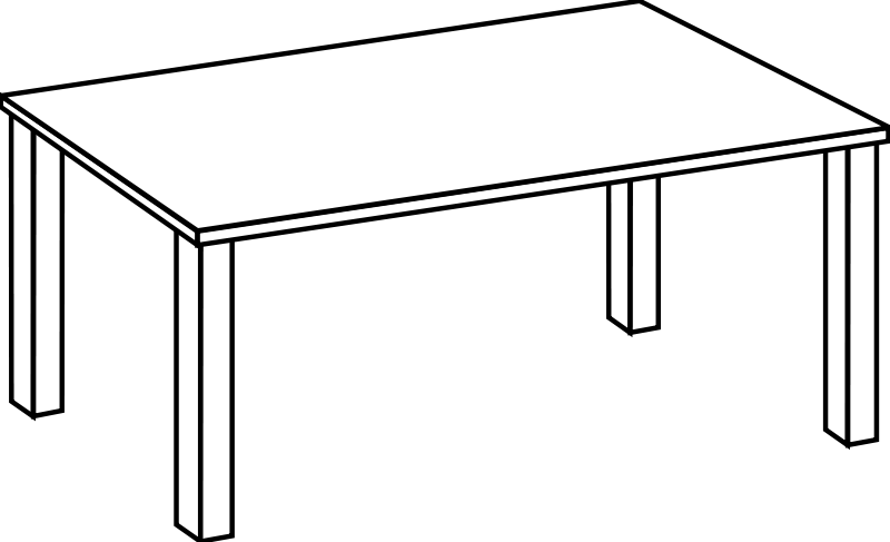 free vector Table Line Art