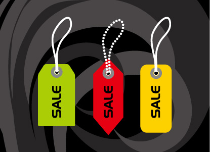 free vector Tag vector material gifts, such as scissors