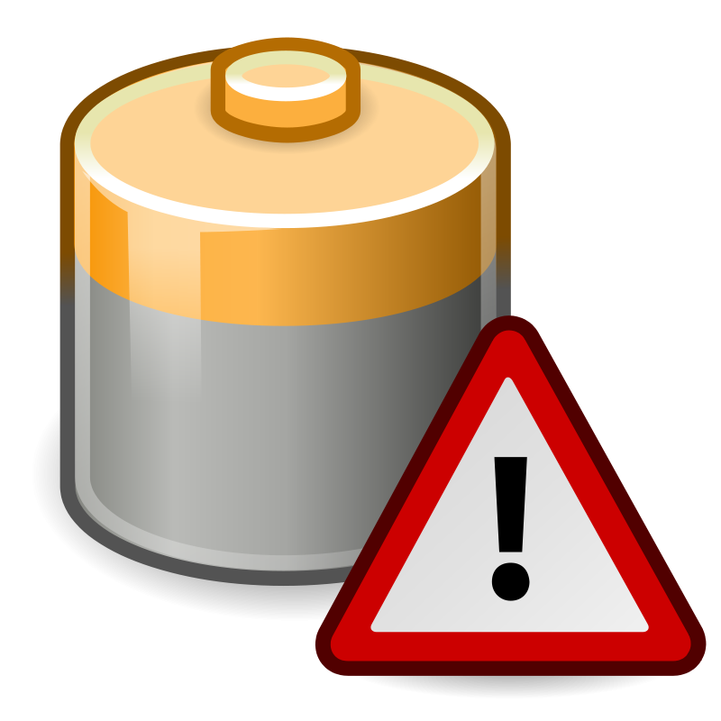 free vector Tango battery caution