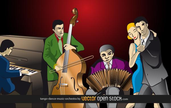 free vector Tango-dance-music-orchestra