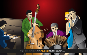 free vector Tango-dance-music-orchestra