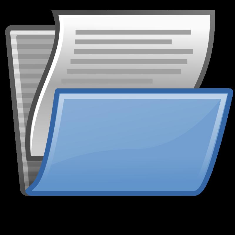 free vector Tango document open