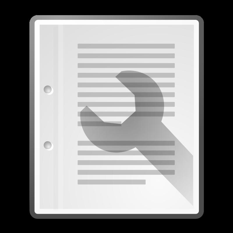 free vector Tango document properties