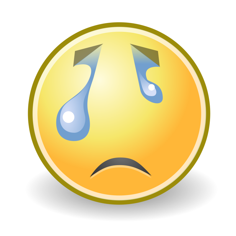 free vector Tango face crying