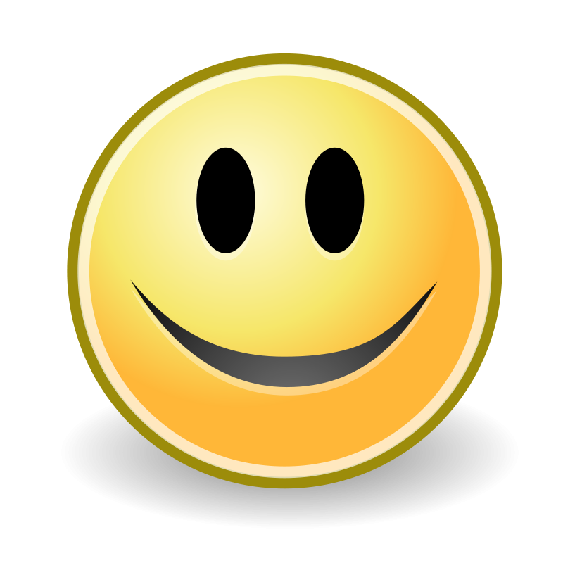 Tango face smile Free Vector / 4Vector