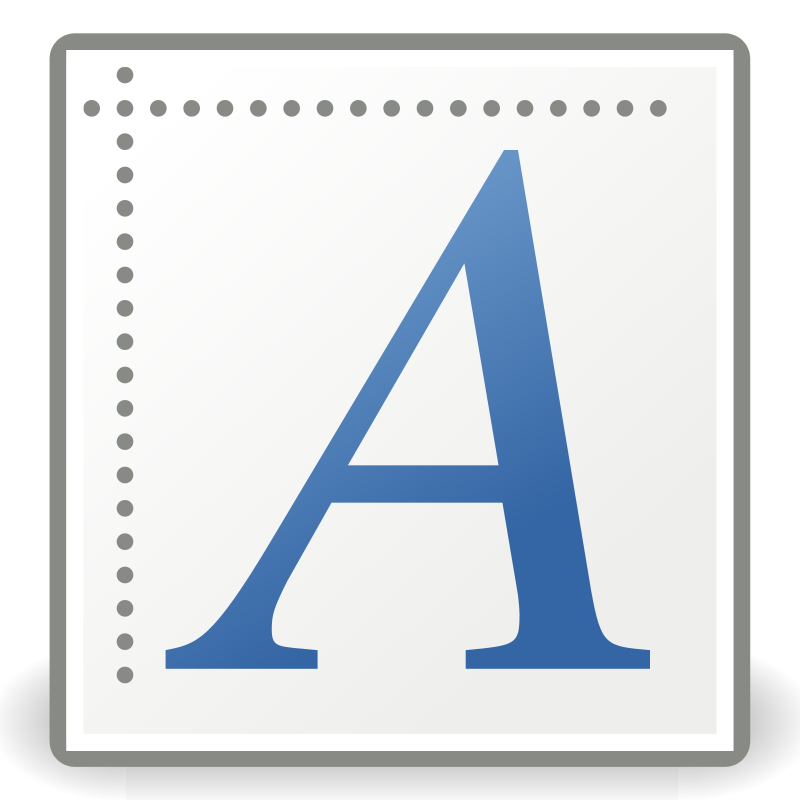 free vector Tango font x generic