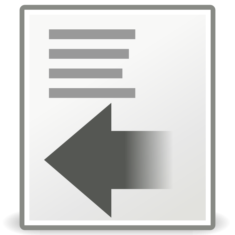 free vector Tango format indent less
