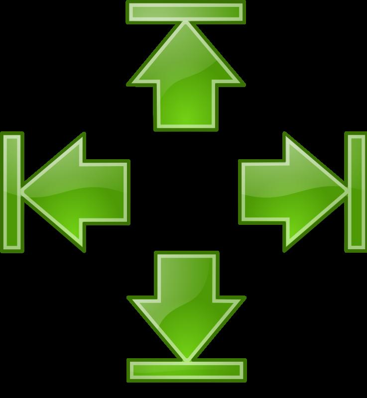 free vector Tango green arrows set 2