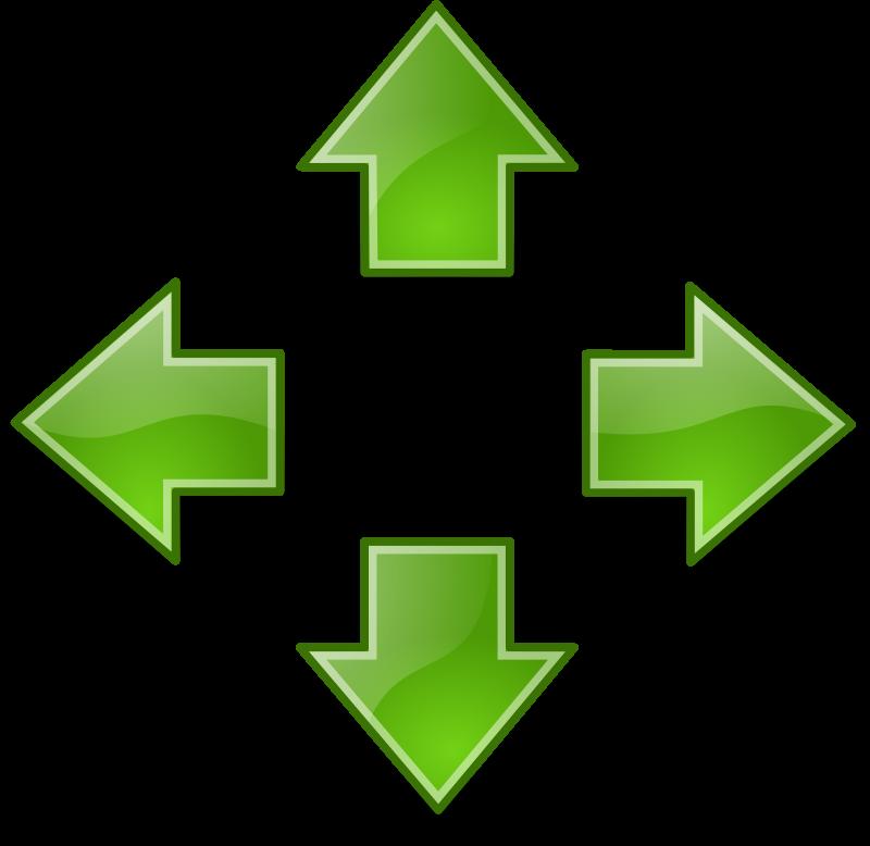 free vector Tango green arrows