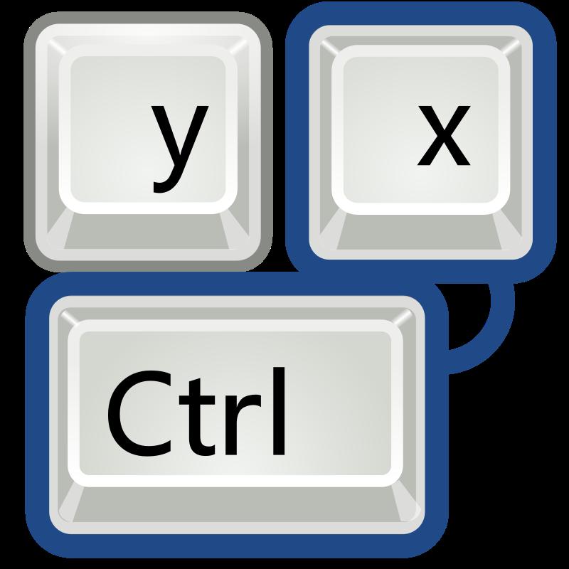 free vector Tango preferences desktop keyboard shortcuts
