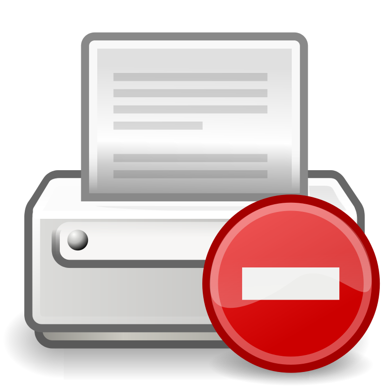 free vector Tango printer error