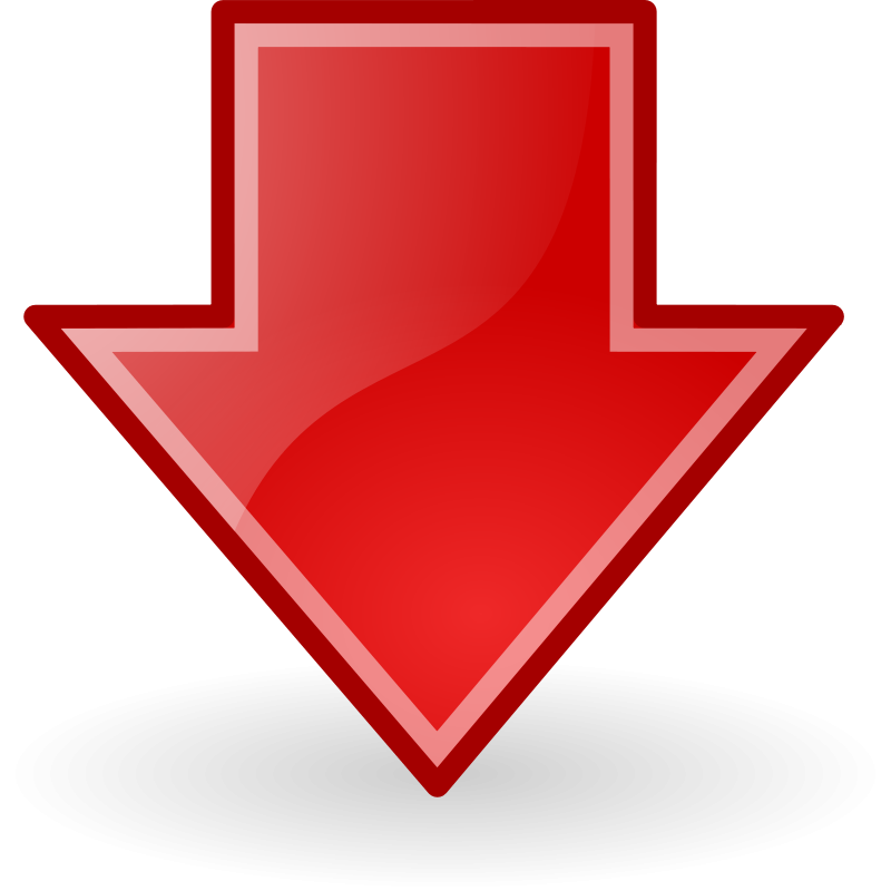 free vector Tango red go down