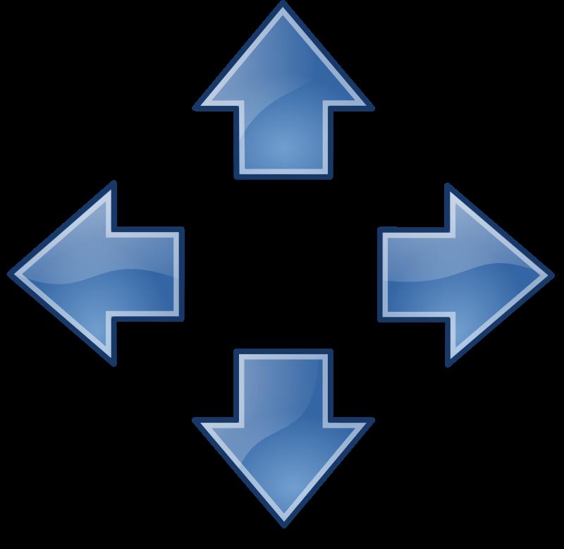 free vector Tango style arrows blue