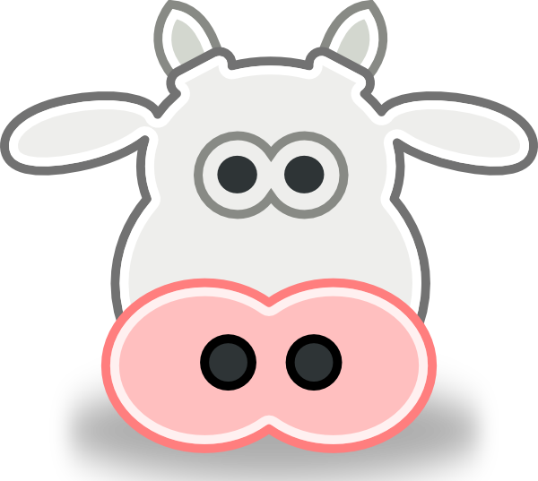 Tango Style Cow Head Clip Art 105617 Free Svg Download 4 Vector