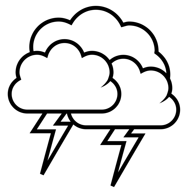 free vector Tango weather storm - outline