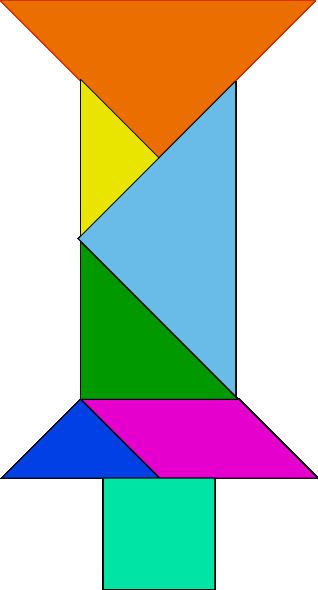 free vector Tangram-02 clip art