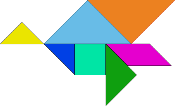 free vector Tangram-03 clip art