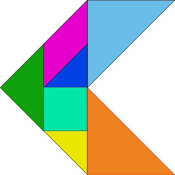free vector Tangram-12 clip art