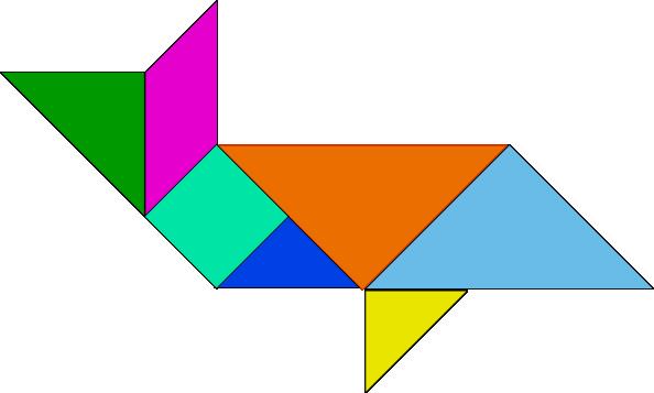 free vector Tangram-25 clip art