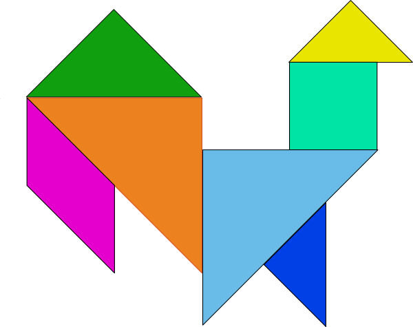 free vector Tangram-29 clip art