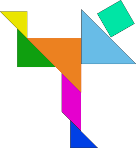 free vector Tangram clip art 107738