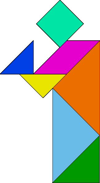 free vector Tangram clip art