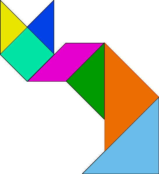free vector Tangram Game clip art
