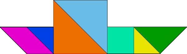 free vector Tangram Puzzle clip art