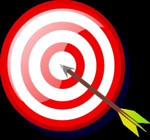 free vector Target With Arrow clip art