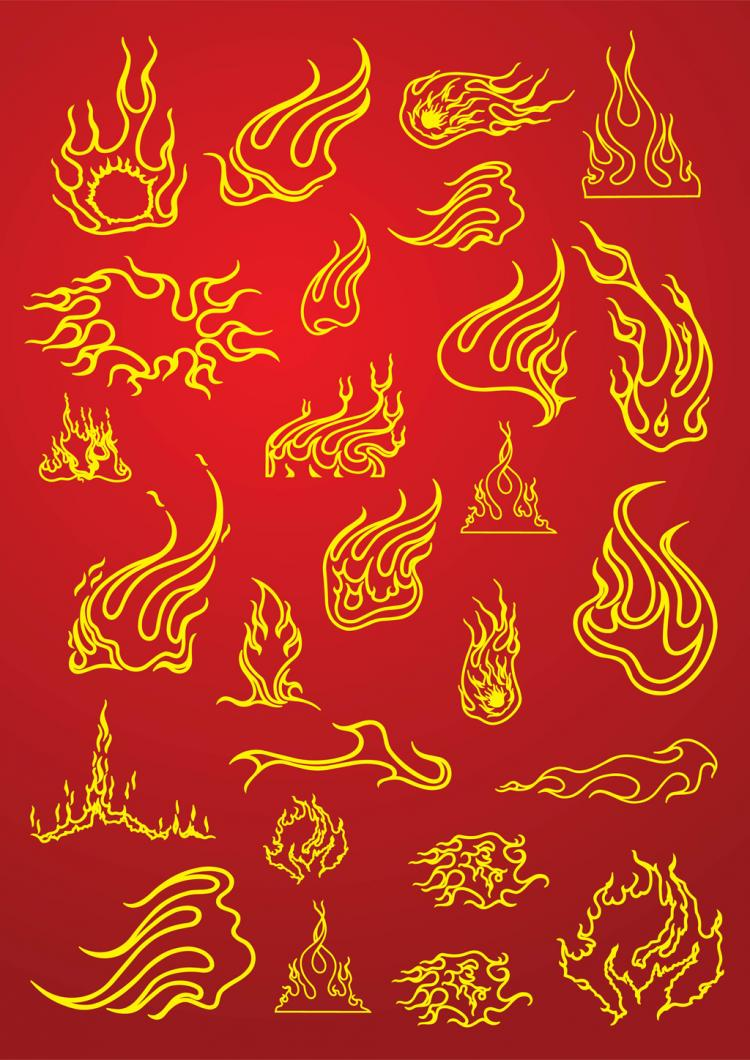 free vector Tattoo Fire Flames
