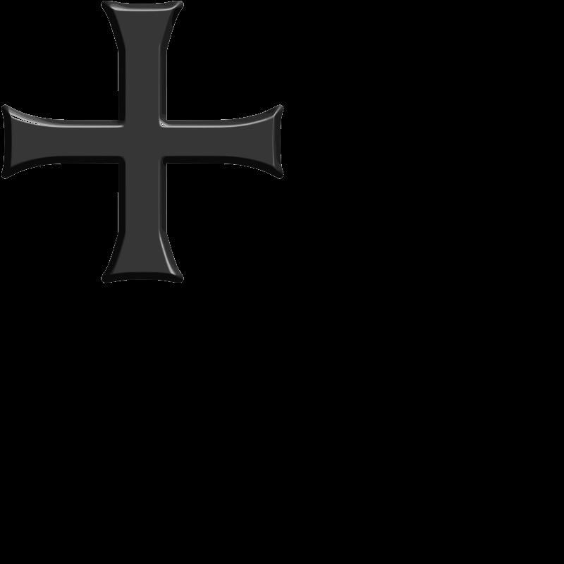 free vector Tatzenkreuz deutscher Ritterorden - beveled