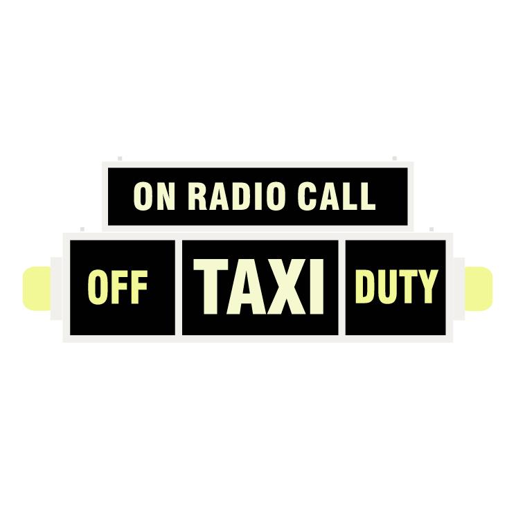 free vector Taxi on radio call