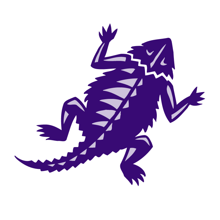 free vector Tcu horned frogs