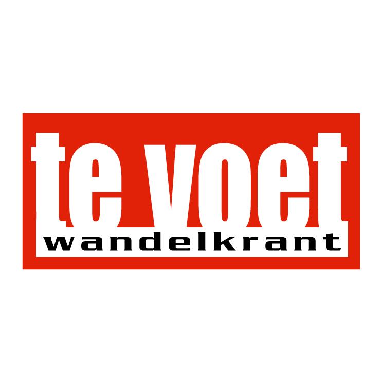 free vector Te voet