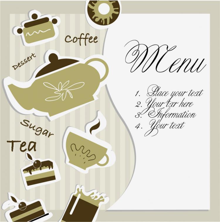 free vector Tea card 01 vector