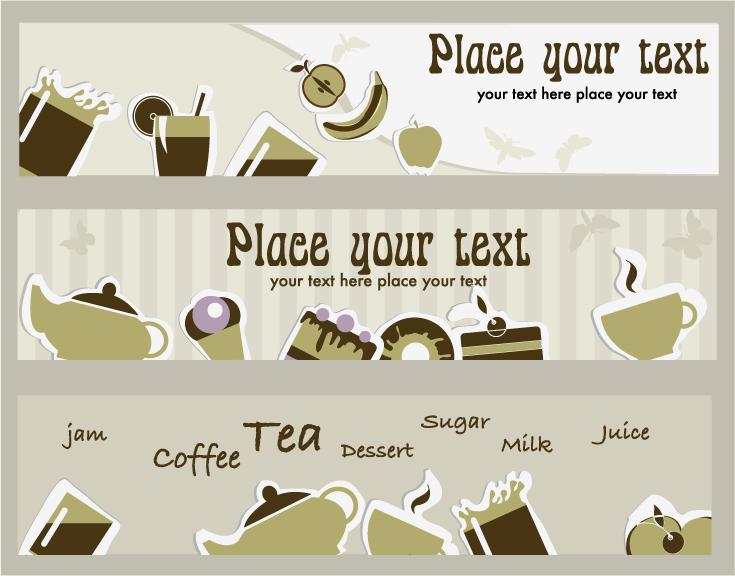 free vector Tea card 02 vector