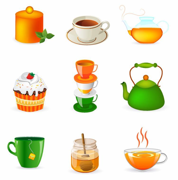 free vector Tea set