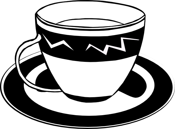 free vector Teacup (b And W) clip art 125902
