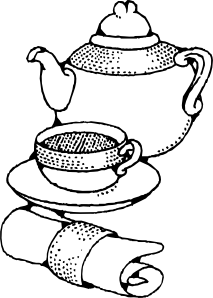 free vector Teapot And Cup clip art