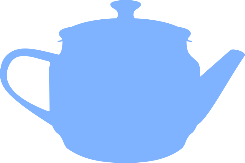 free vector Teapot (silhouette) by Rones