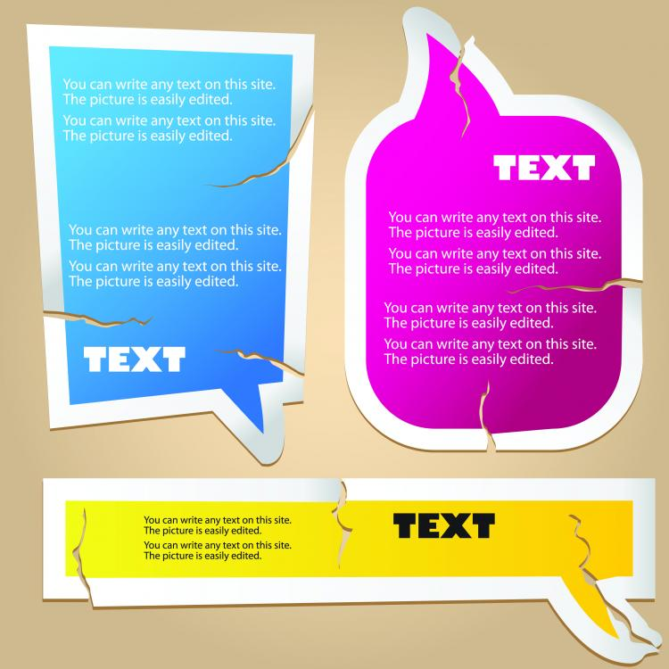 free vector Tear of the fine label 01 vector