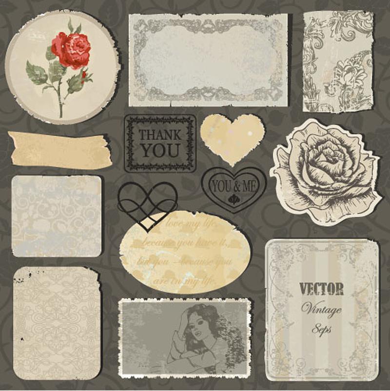 free vector Tear stickers 03 vector