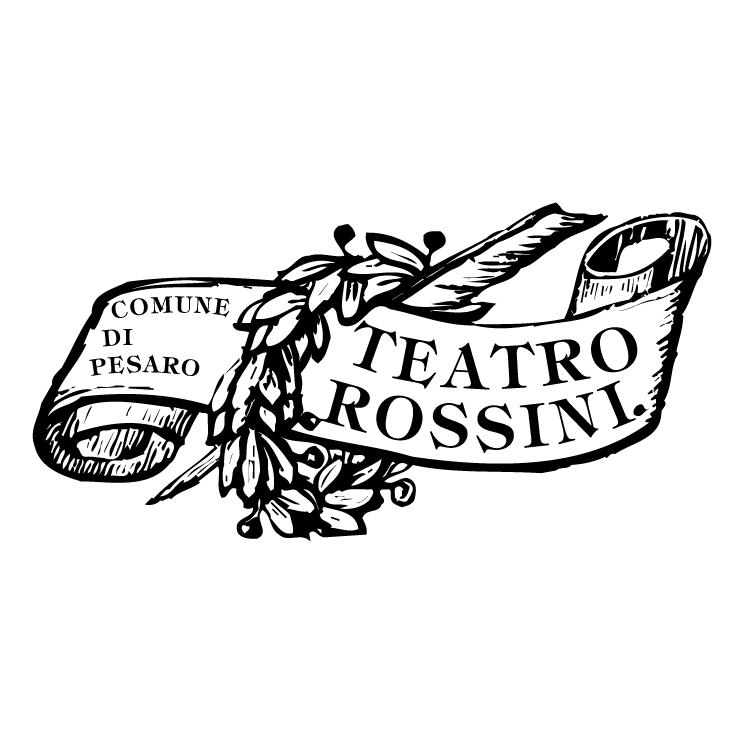 free vector Teatro rossini pesaro