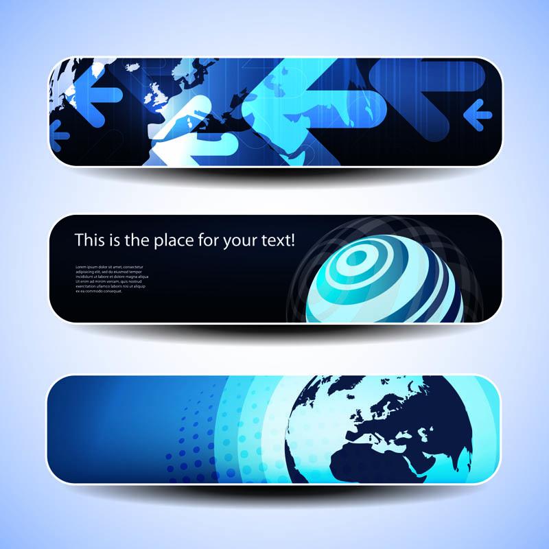 free vector Technological sense banner vector