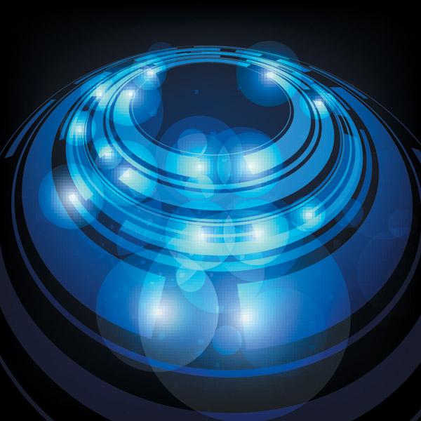 free vector Technological sense blue light vector