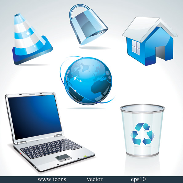free vector Technologies style icon vector sense of crystal