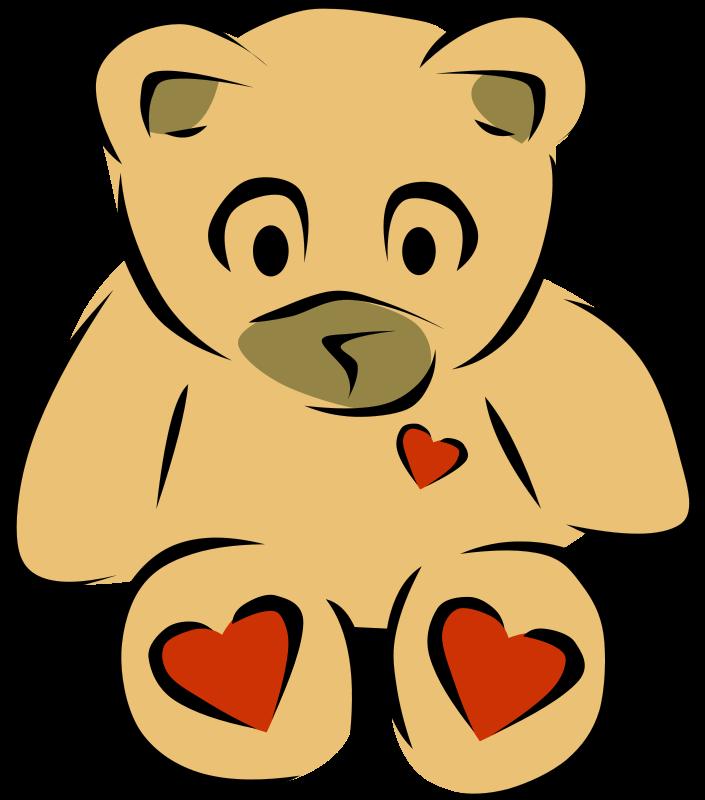 free vector Teddy Bear with hearts